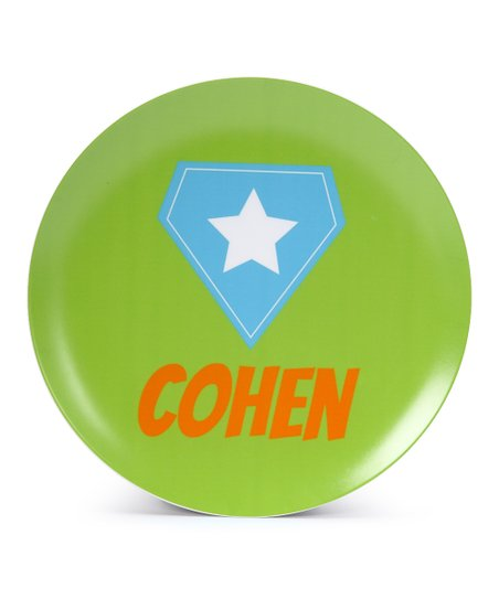 Green Super Crest Personalized Plate