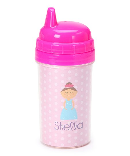 Brown-Haired Princess Personalized Sippy Cup