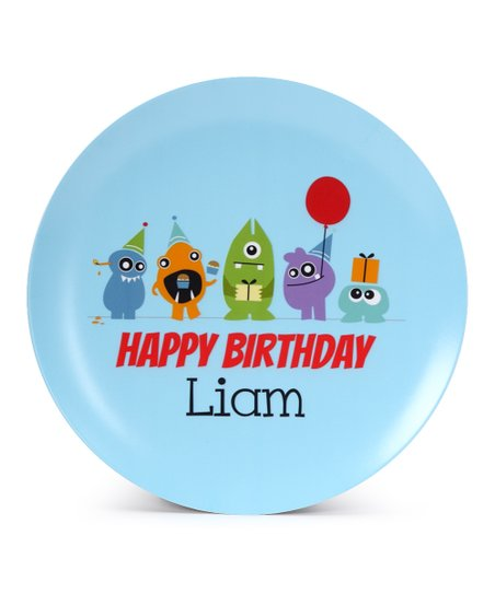 Monster Birthday Personalized Plate