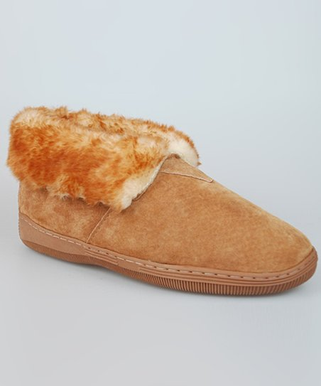 Tan Faux Fur Cuff Shoe - Women