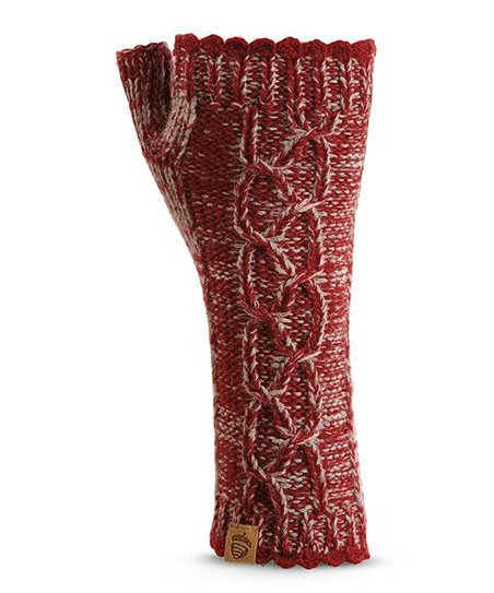 Red Emry Wool-Blend Arm Warmers