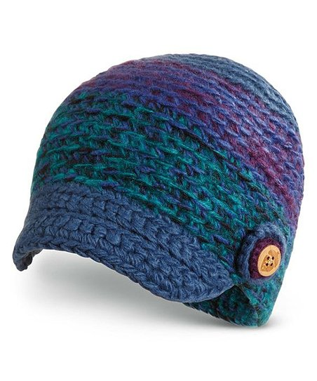 Turquoise Ainsly Brimmed Beanie