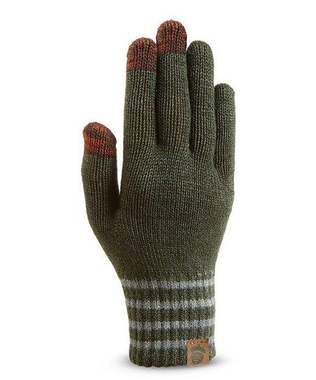 Green Cary's Wool-Blend Tech Gloves