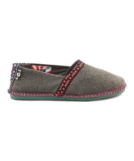 Gray Cotton Hicky Slip-On Shoe
