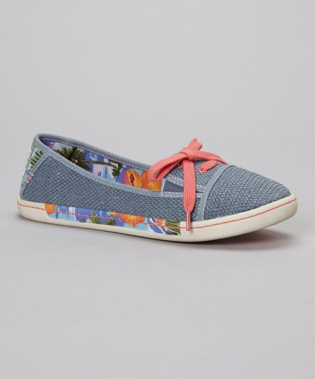 Light Gray & Blue Sole Soldier Slip-On Shoe