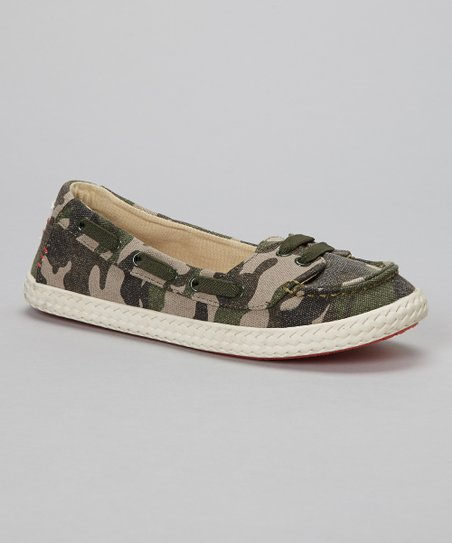 Camo Sole Surfer Slip-On Shoe