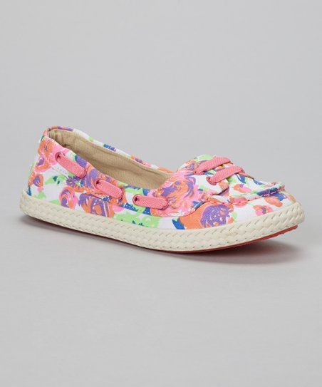 Neon Summer Sole Surfer Slip-On Shoe