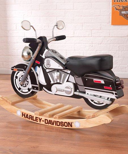 Black Harley-Davidson Police Rocker