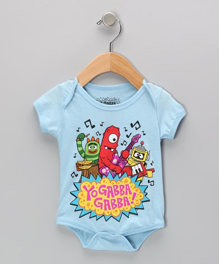 Light Blue 'Yo Gabba Gabba!' Bodysuit