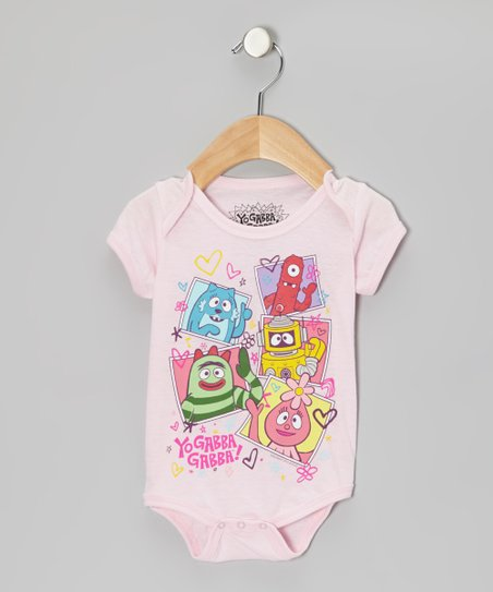 Light Pink 'Yo Gabba Gabba!' Bodysuit