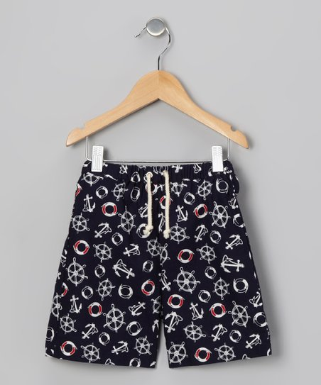 Navy Yacht Swim Trunks - Infant & Boys