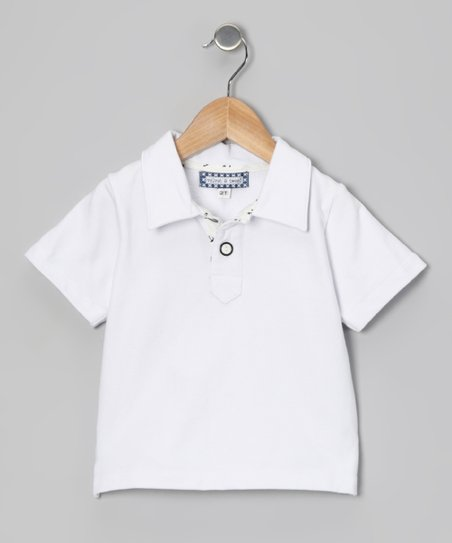 White Contrast Placket Polo - Infant, Toddler &amp; Boys