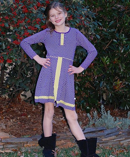 Purple & Yellow Riding Dress – Toddler & Girls