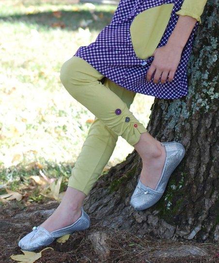 Linden Ruched Ankle Button Leggings – Toddler & Girls