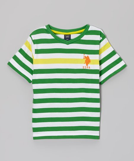 Green Stripe Tee - Toddler & Boys