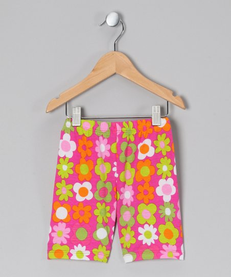 Citrus Fab Floral Bike Shorts - Infant, Toddler & Girls