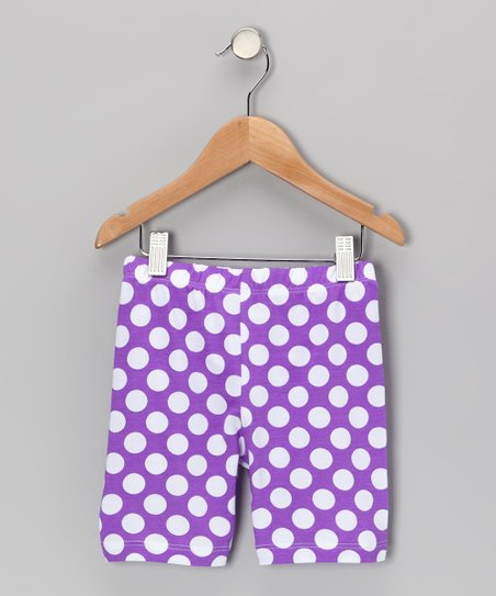 Grape Punch Polka Dot Bike Shorts - Infant, Toddler & Girls