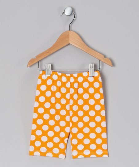 Mango Punch Polka Dot Bike Shorts - Infant & Toddler