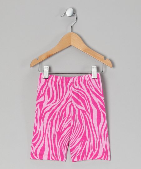 Pink Zebra Bike Shorts - Infant, Toddler & Girls