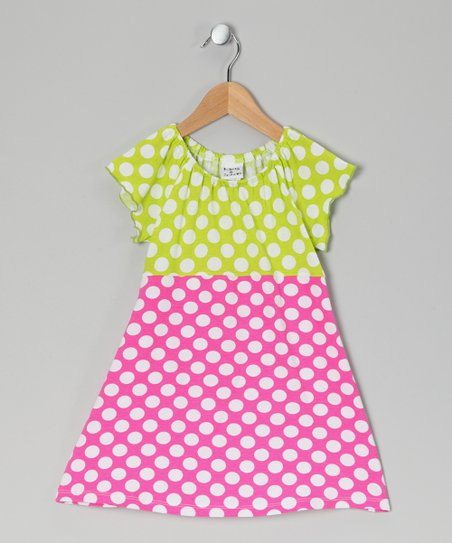Berry Punch Polka Dot Peasant Dress - Infant, Toddler & Girls