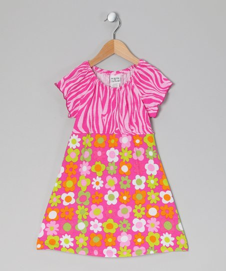 Citrus Fab Floral Peasant Dress - Infant, Toddler & Girls