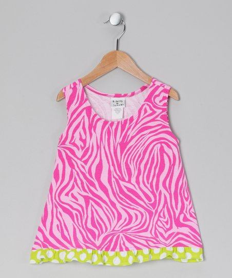 Pink Zebra Ruffle Tank - Infant, Toddler & Girls