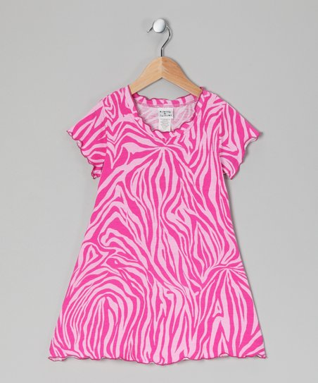 Pink Zebra Swing Dress - Infant, Toddler & Girls