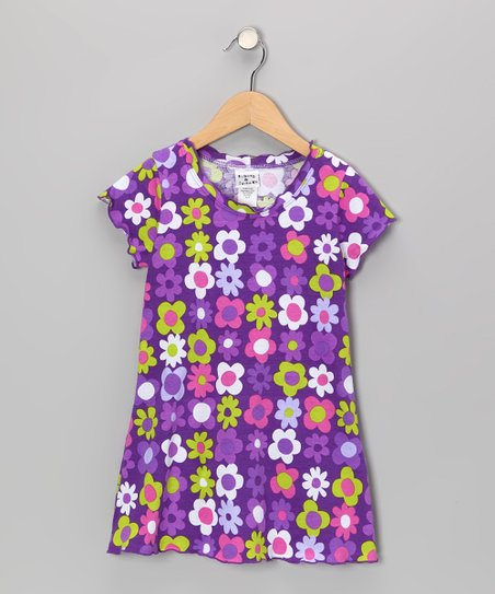 Purple Fab Floral Swing Dress - Infant, Toddler & Girls