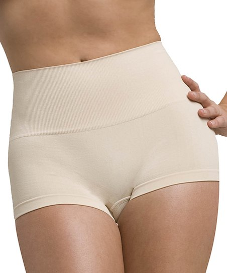 Nude High-Waist Shaper Boyshorts