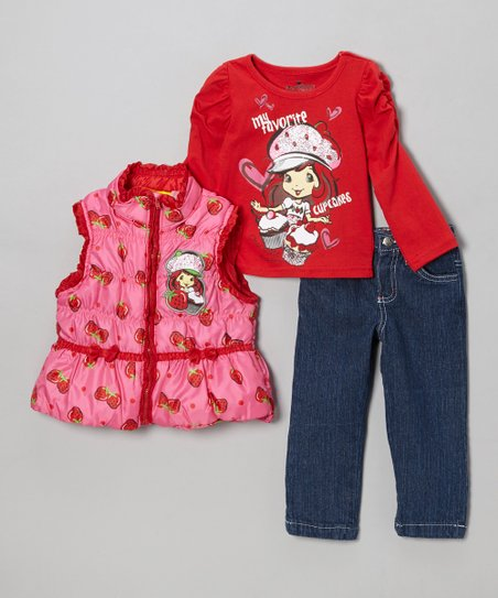 Pink Strawberry Shortcake Pants Set