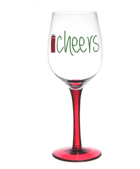 'Cheers' Wineglass