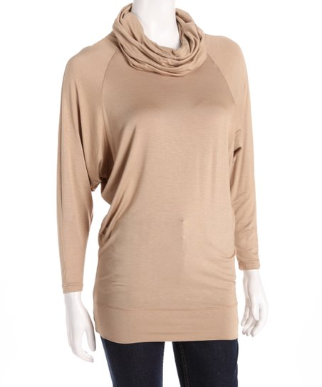 Sand Mock Neck Tunic