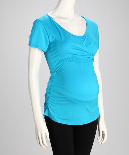Aqua Soho Chic Maternity & Nursing Top - Women