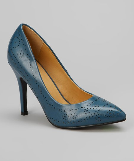 Blue Perforated Carrie Pump