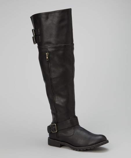Black Ginnie Over-the-Knee Boot