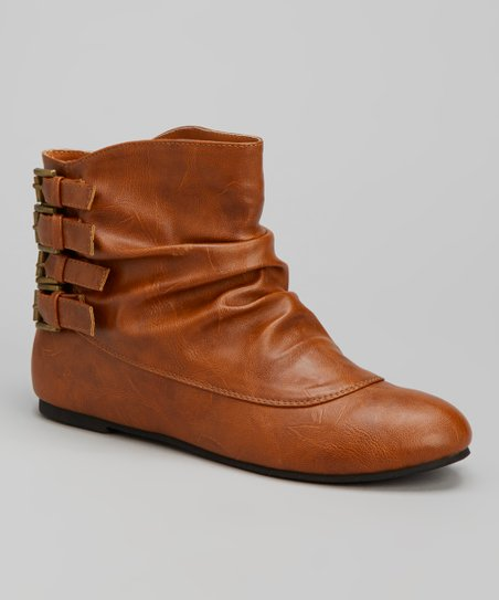Cognac Buckle Wilma Boot