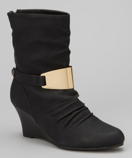 Black Zelda Wedge Boot