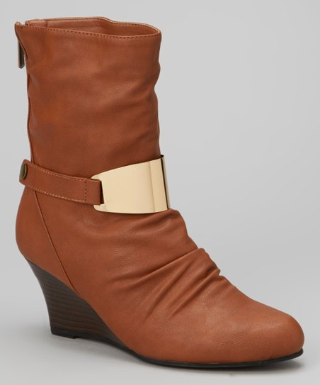 Cognac Zelda Wedge Boot