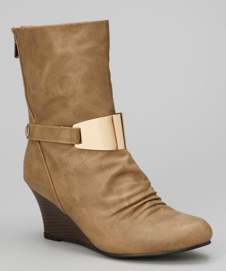Nude Zelda Wedge Boot