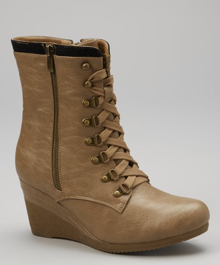 Nude Bonnie Wedge Boot