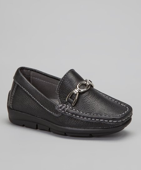 Black Pebble Slip-On Dress Shoe