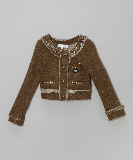 Olive Raw Edge Jacket - Infant, Toddler & Girls