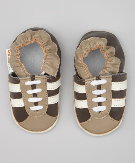 Brown Stripe Sneaker Booties