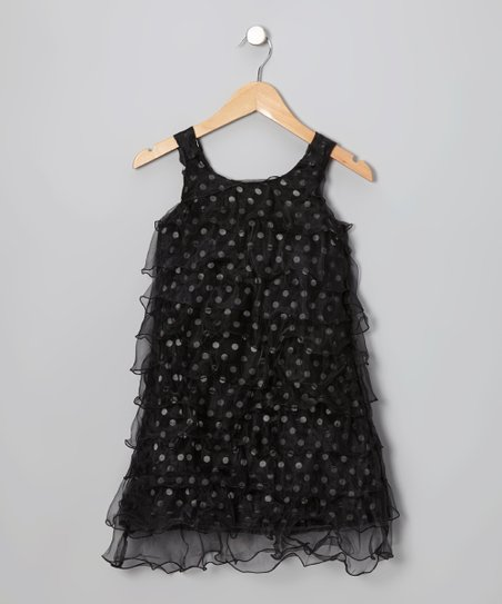 Black Sequence Dress - Girls