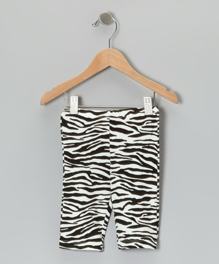 Black & White Zebra Leggings - Infant & Toddler