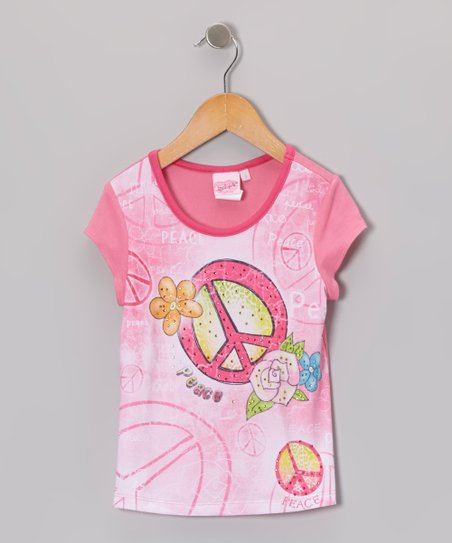 Pink Peace Sublimation Tee - Toddler & Girls
