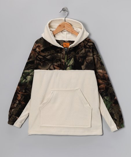Birch Camo Fleece Hoodie - Girls