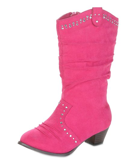 Fuchsia Mission Cowboy Boot - Kids