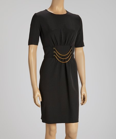 Black Chain Belt Dress