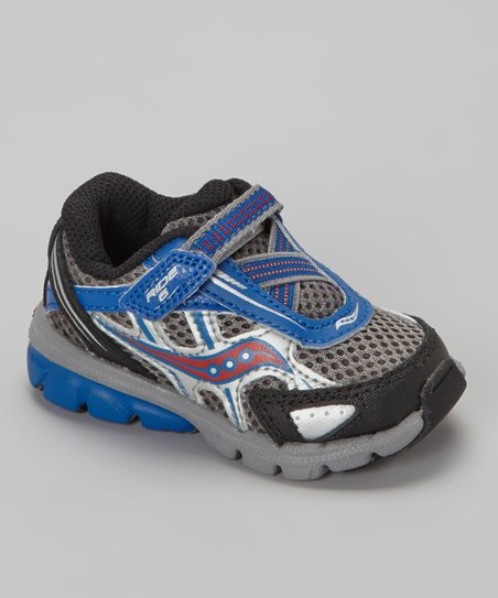 Gray & Royal Blue Ride Running Shoe